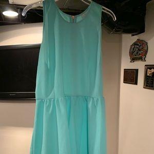 Blue Fit & Flare Dress
